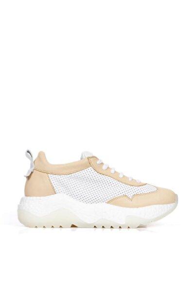 BUENO Shoes Hakiki Deri File Detaylı Kadın Spor Ayakkabı 20wq5203