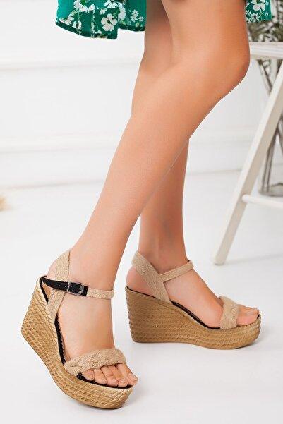 derithy -dolgu Topuklu Ayakkabı-siyah Süet