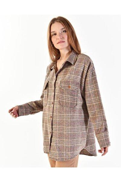 Vision Kadın Ekoseli Gömlek