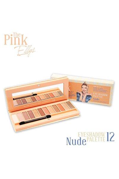 The Pink Ellys Eyeshadow Palette Nude 12li