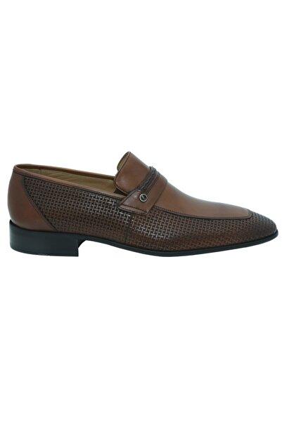 Fosco 9030 Taba Lazerli Deri Erkek Günlük Ayakkabı