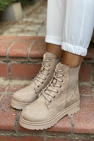 İnan Ayakkabı Bayan Kenardan Lastikli Bot