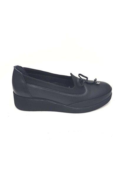Bioflex Anatomik Kışlık Deri Siyah Kadın Ayakkabı 1054 Bfx