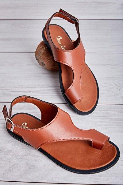 Bambi Taba Kadın Sandalet L0835121009