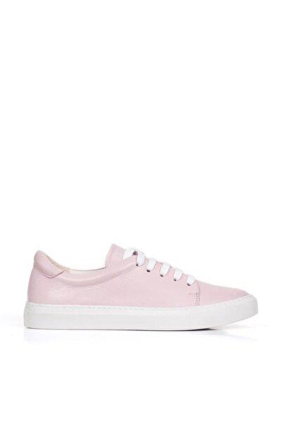 BUENO Shoes Hakiki Deri Bağcık Detaylı Kadın Spor Ayakkabı 20wq9700