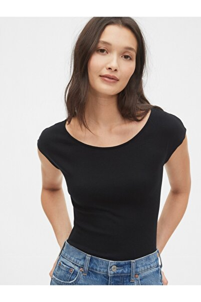 GAP Modern Kayık Yaka Kısa Kollu T-shirt