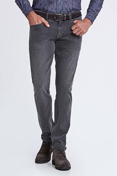 Hemington Slim Fit Gri Denim Pantolon