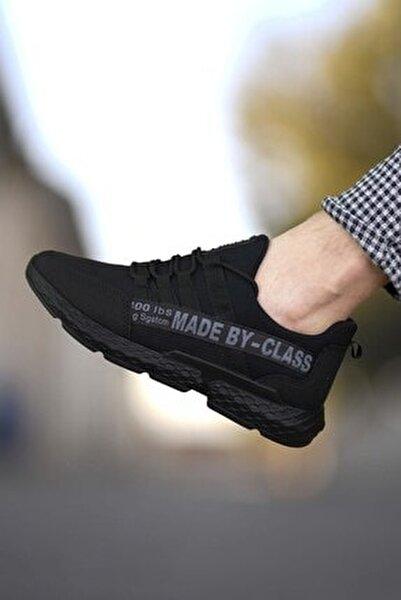 Siyah Erkek Cilt Sneaker 0012santo