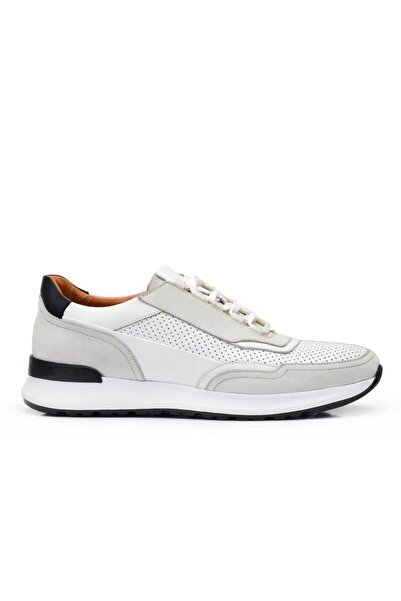 Nevzat Onay Hakiki Deri Beyaz Sneaker Erkek Ayakkabı -11779-