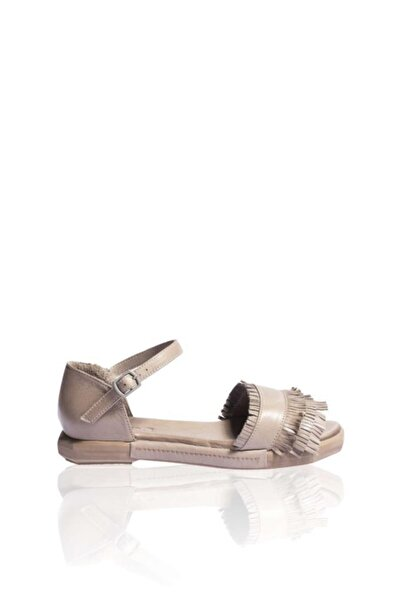 BUENO Shoes Püskül Detaylı Hakiki Deri Kadın Düz Sandalet 9n7302