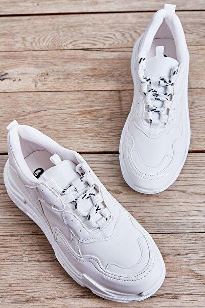 Bambi Beyaz Kadın Sneaker L0601007209