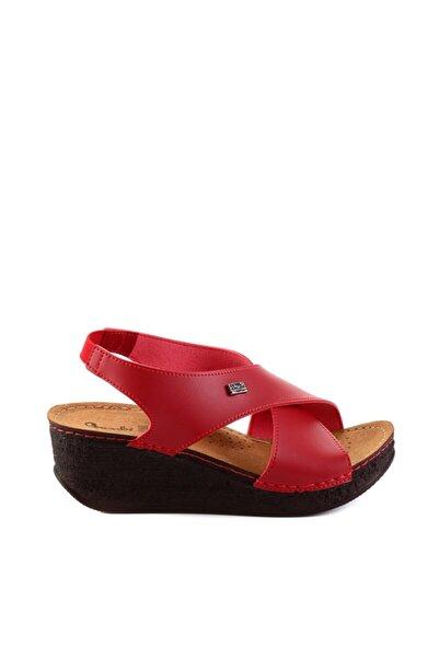 Bambi Kırmızı Kadın Sandalet