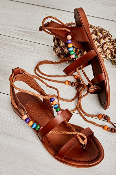 Bambi Kahve Kadın Sandalet L0776020009