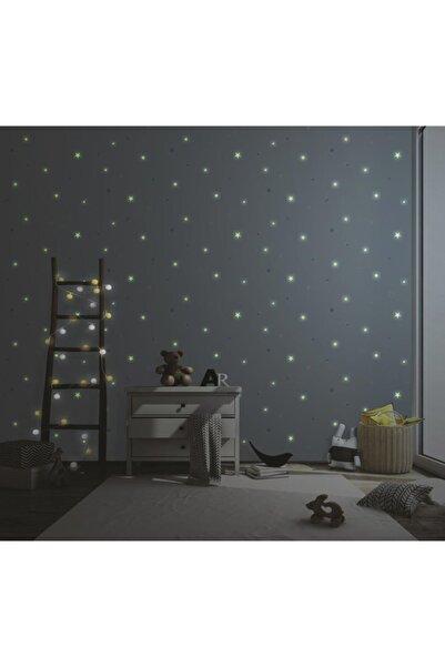 Adawall Adakıds Gece Parlayan Yıldızlar Desenli Duvar Kağıdı (10,6m2)