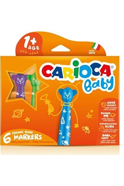 Yerli Carioca 42815 Teddy Jumbo Yıkanabilir Keçeli Boya Kalemi Bebek 6 Lı