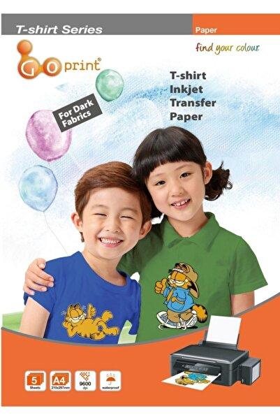 Goprint Goprınt Koyu Zemin Pamuklu Tshirt Transfer Baskı Kağıdı - A4 (5 Adet)