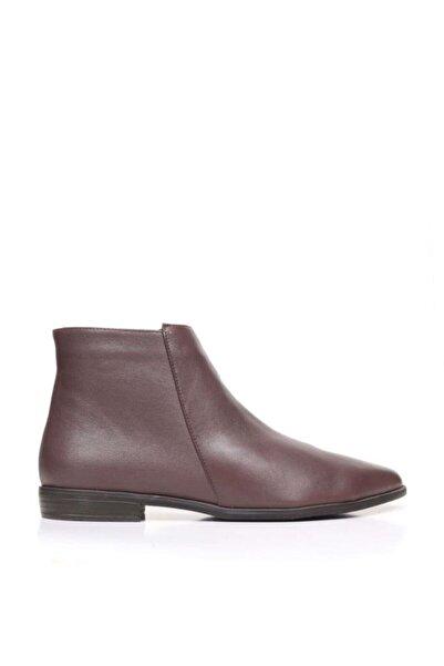 BUENO Shoes Fermuarlı Hakiki Deri Kadın Düz Bot 9p0703