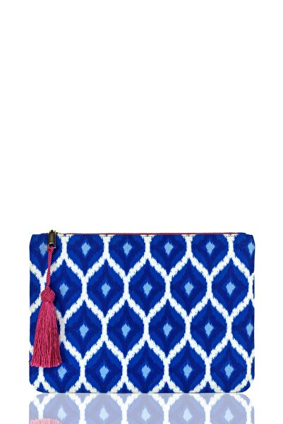 FARBAG Blue Ikat Kadın Portföy Çanta