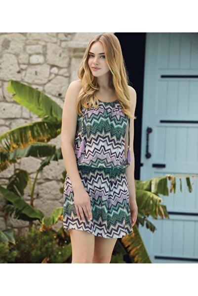Penyemood Penye Mood 8136 Tunik Elbise - - Yeşil - S
