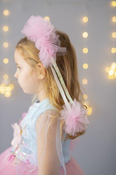 PixyLove Pembe Kız Çocuk Taç Cotton Candy
