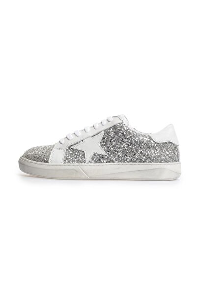 Flower Lame Logolu Eskitmeli Sneakers