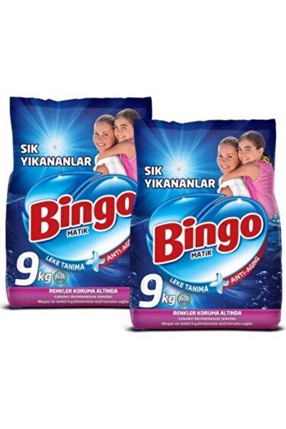 Bingo Sık Yıkananlar Toz Deterjan 9 kg 2'li Paket