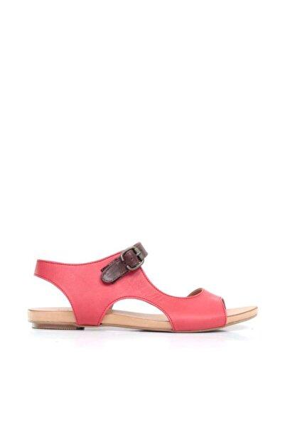 BUENO Shoes Yandan Açık Hakiki Deri Kadın Düz Sandalet 9j1115