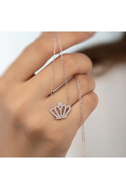 Gümüş Pazarım Kraliçe Tacı Motifli Gümüş Kolye Gpbk053