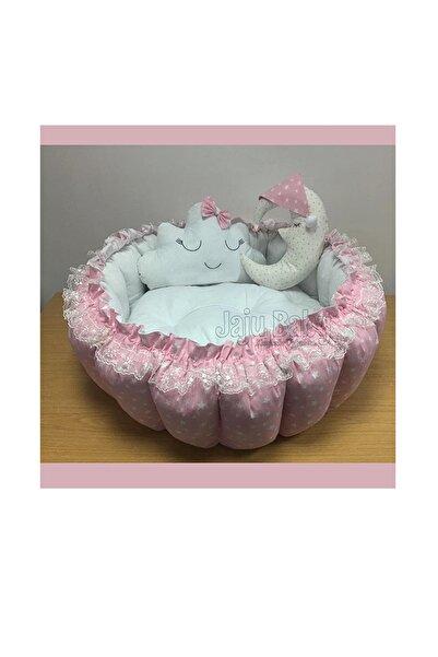 Jaju Baby Pembe Yıldızlı Açılır Kapanır Oyun Minderi Bebek Yuvası