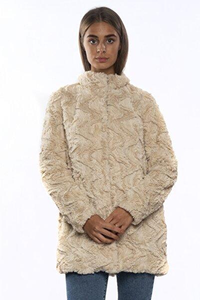 Vero Moda Kadın Zigzag Kürk Mont 10203269