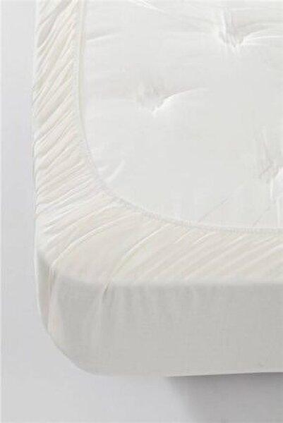 Çift Kişilik Penye Lastikli Çarşaf (160x200) / Ekru