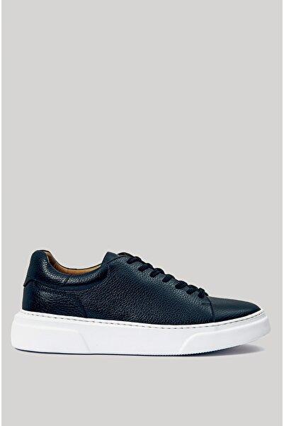 Lufian Tommy Deri Sneaker Lacivert