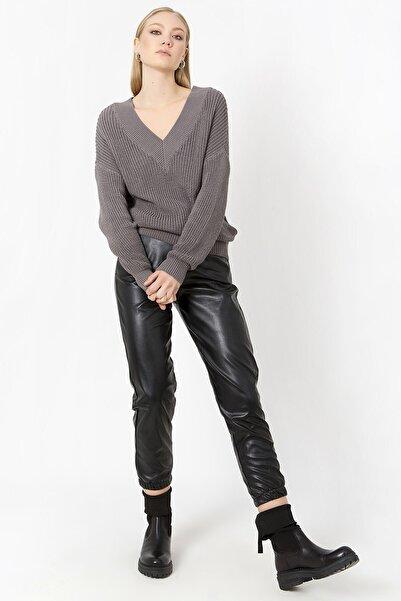 ZİNDİ Kadın Suni Deri Pantolon Siyah