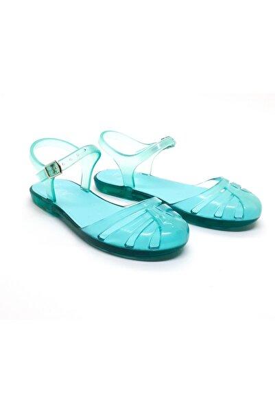 IGOR Mara Mini Kız Turkuaz Çocuk Günlük ve Plaj Şeffaf Sandalet