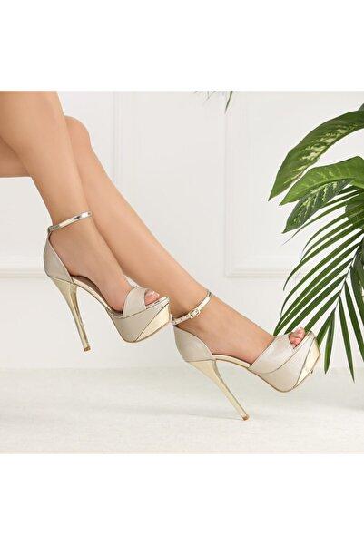 Ayakkabı Delisiyim Likare Dore Topuklu Platform Ayakkabı