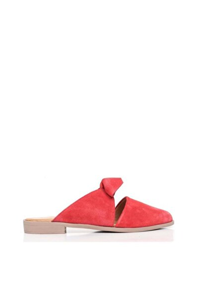 BUENO Shoes Papyon Detaylı Hakiki Deri Kadın Düz Terlik 9n0106
