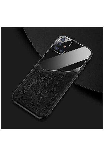 Dara Aksesuar Samsung Galaxy A71 Kılıf Zebana New Fashion Deri Kılıf Siyah