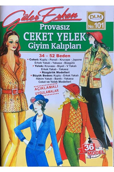 Dilem Yayınları Güler Erkan Provasız Ceket Yelek Giyim Kalıpları No:101
