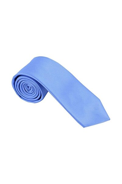Ottomoda Açık Mavi Desenli Kravat Mendil Seti