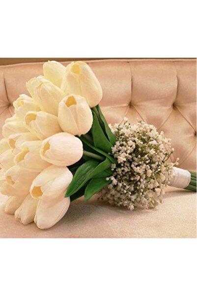 Evsay Gelin Çiçeği Gelin Buketi Lale Buketi Islak Lale