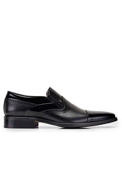 Nevzat Onay Hakiki Deri Siyah Klasik Loafer Erkek Ayakkabı -10465-