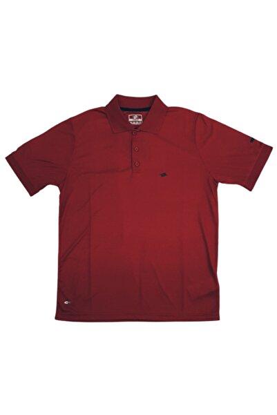 Crozwise 7108 Kırmızı Kareli Kappa Polo Yaka Micropolyester Erkek Spor T-shirt