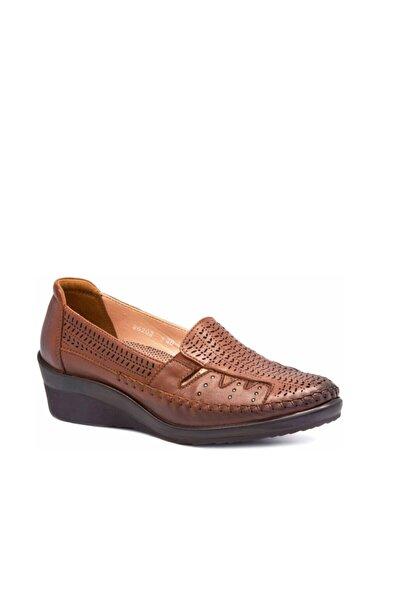 Forelli 26202 Hakiki Deri Comfort Kadın Ayakkabı Taba
