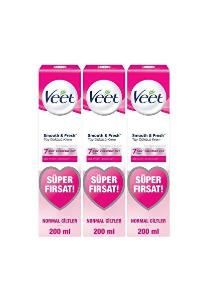 Veet Tüy Dökücü Krem Normal Ciltler Için Bacak Ve Vücut Bölgesi - 600 ml (200x3 Adet)