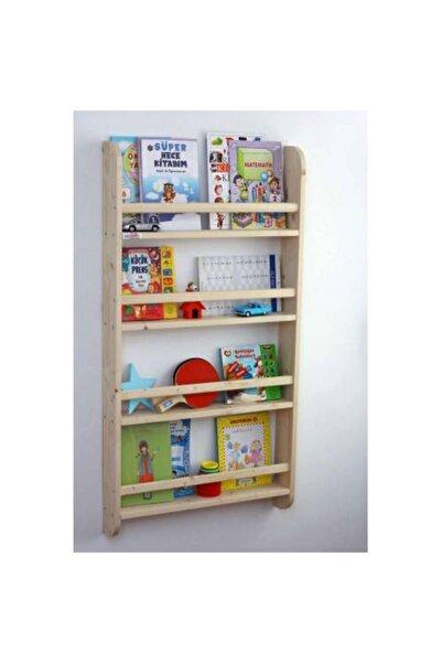 Mashotrend Ahşap Çocuk Odası Kitaplığı - Ahşap Kitaplık - Çocuk Boy Kitaplık 120 X 60 Cm