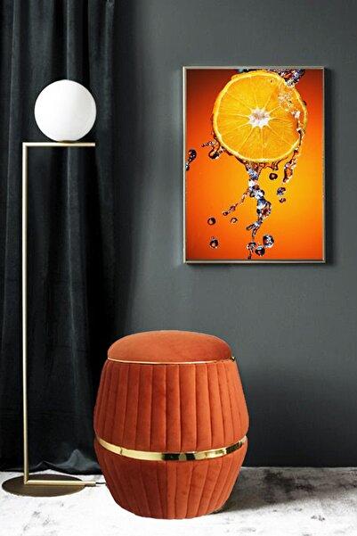Zem Lunge Barrel Orange-gold Özel Tasarım Puf