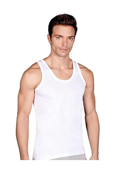 Berrak Erkek 3 Adet Beyaz Renk Penye Atlet