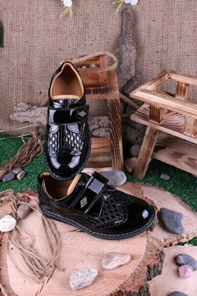 Akıllı Şirin Erkek Çocuk Siyah Rugan Ortopedik Ayakkabı