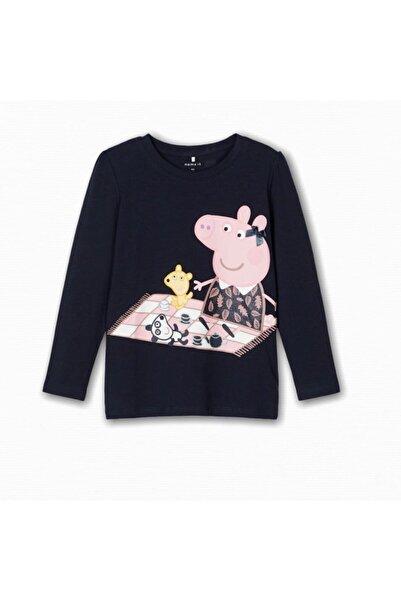 name ıt Kız Çocuk Peppa Pig Baskılı T-shirt