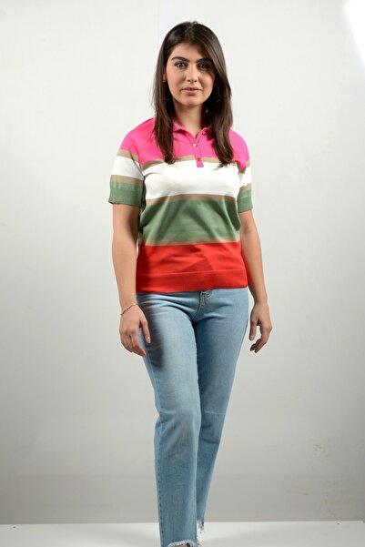 Lefon Kadın Renkli T-shirt